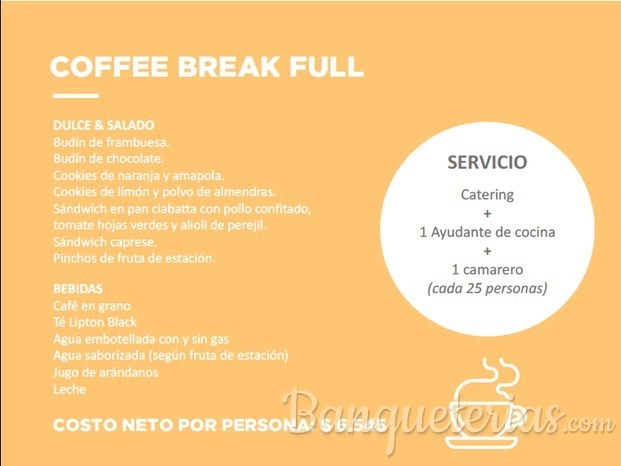 COFFEE BREAK FULL, PROMOCION TEMPORADA INVIERNO